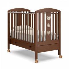 Кровать детская Дени люкс с ящиком орех