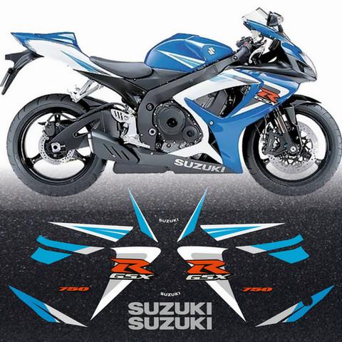 Набор виниловых наклеек на мотоцикл SUZUKI GSX-R 750 2006