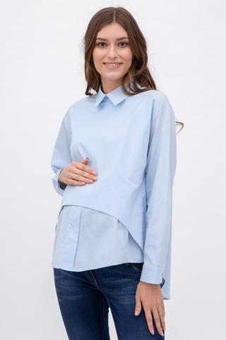 Рубашка для беременных 08922 голубой