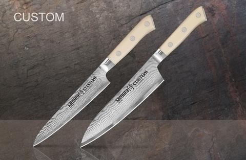 Набор из 2 кухонных дамасских ножей Samura CUSTOM SCU-0210