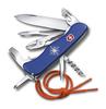 Нож Victorinox Skipper, 111 мм, 17 функций, с фиксатором лезвия и шнурком, синий