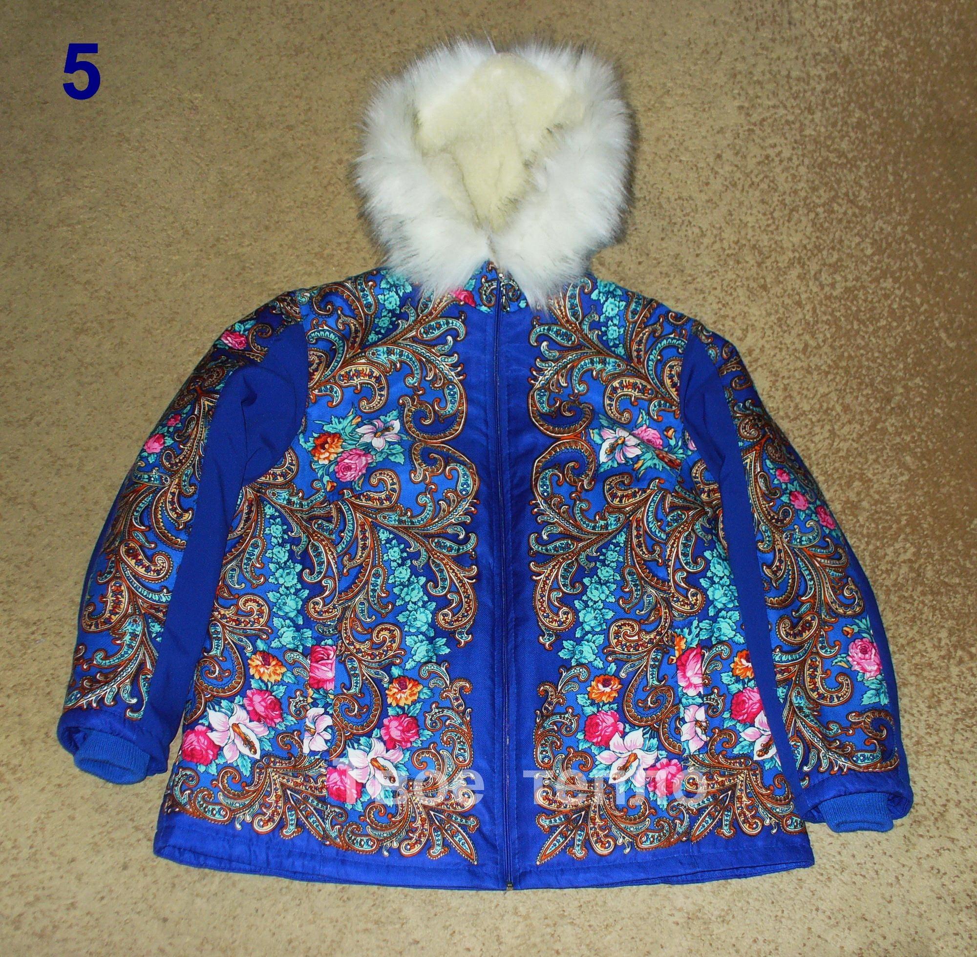 Куртка Матрешка прямого покроя