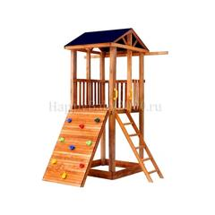 Детская площадка М3-0 с широким скалодромом и тентовой крышей
