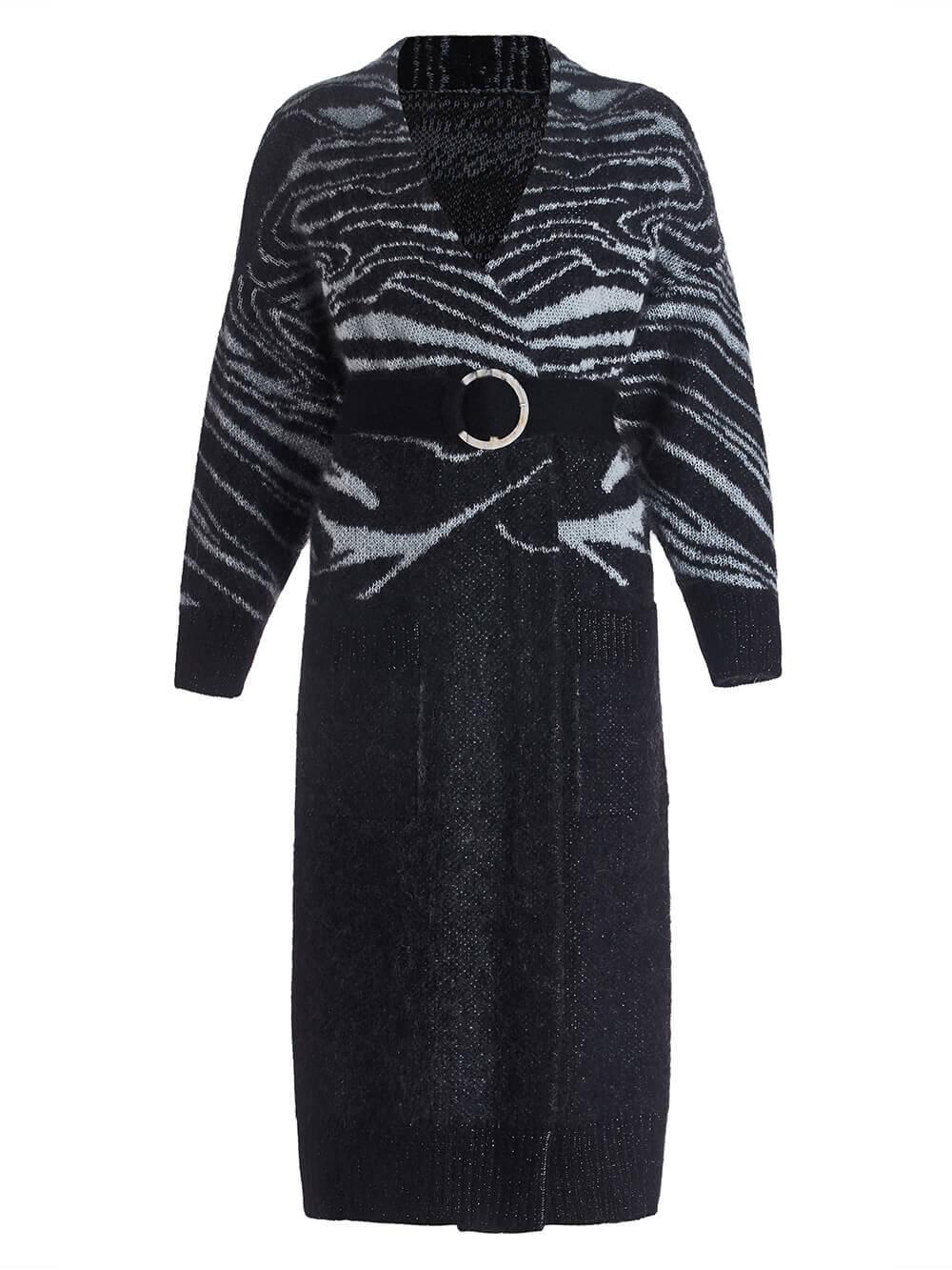 Женский кардиган черного цвета из мохера - фото 1
