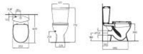 Унитаз напольный с бачком и сиденьем  Ideal Standard Oceane Junior W 9044 01 схема