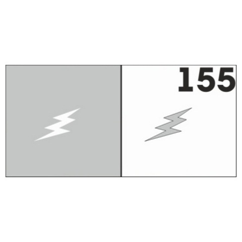 Трафарет для ногтей 6 шт. /1 уп. №155