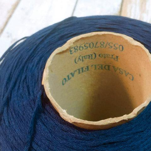 Хлопок 100% шнурок CASA DELL FILATO синий