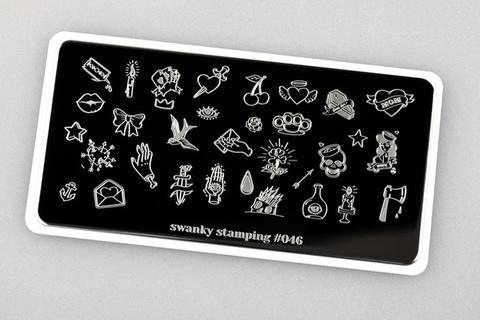Пластина Swanky Stamping №46