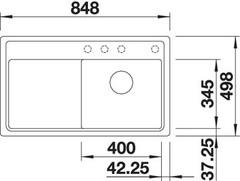 Мойка Blanco Zenar 45S-F схема