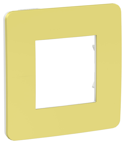 Рамка на 1 пост. Цвет Зеленое яблоко/белый. Schneider Electric Unica Studio. NU280211