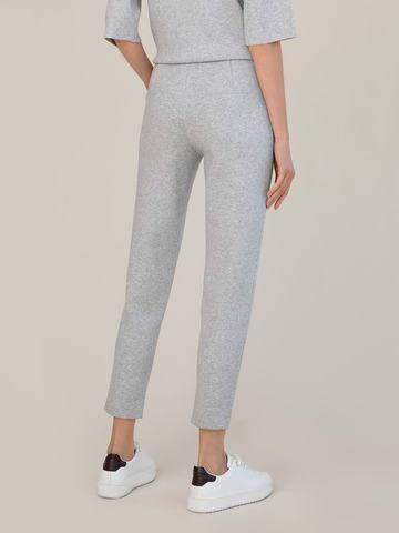 Женские брюки цвета серый меланж из вискозы - фото 3