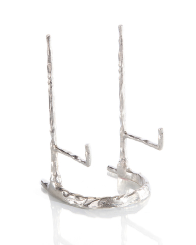 Giacometti Plate Stand in Nickel