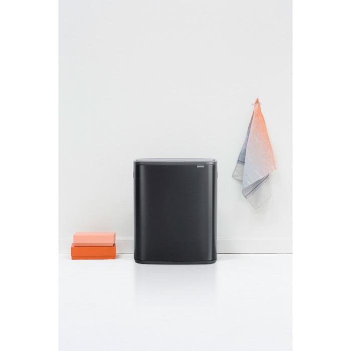 Мусорный бак Touch Bin Bo (2 х 30 л), Черный матовый, арт. 221484 - фото 1