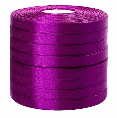 Лента атласная (размер: 10 мм х 50 ярд) Цвет: фиолетовая