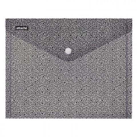 Папка-конверт на кнопке Attache Confidence 180мкм А4