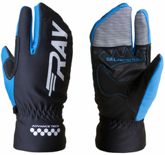 Перчатки лобстеры Ray Гамма черный-синий