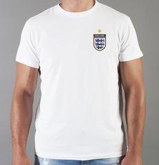 Футболка с принтом FC England (Сборная Англии) белая 004