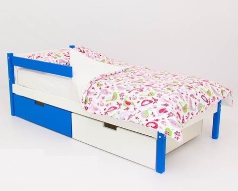 Кровать SKOGEN сине-белый