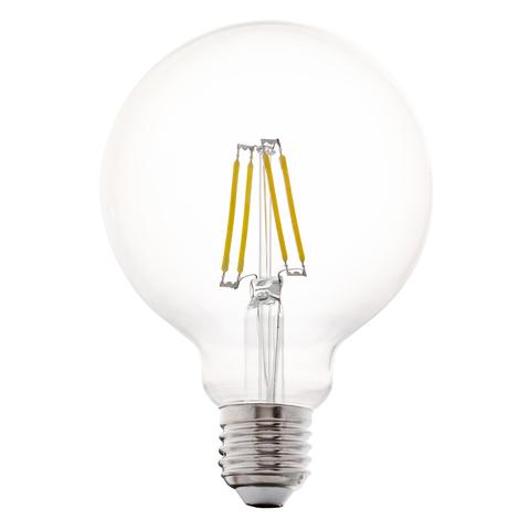 Лампа LED филаментная прозрачная Eglo CLEAR LM-LED-E27 4W 350Lm 2700K G95 11502