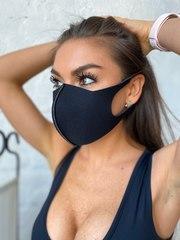 Многоразовая маска из неопрена Black