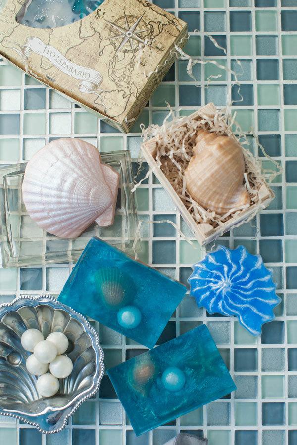 Форма для изготовления мыла. Ракушки, морская тема