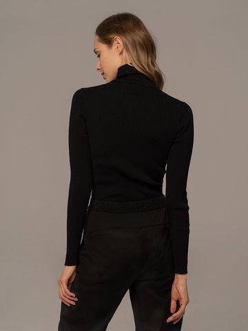 Женский свитер черного цвета из 100% шерсти - фото 4
