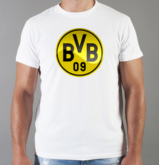 Футболка с принтом FC Borussia Dortmund (ФК Боруссия) белая 002