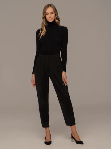 Женский свитер черного цвета из 100% шерсти - фото 5