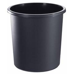 Корзина для мусора Стамм 18 л пластик черная (31х32.5 см)