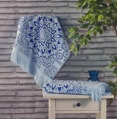 Полотенце махровое Duru (цвет: голубой)