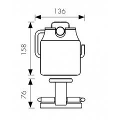 Держатель для туалетной бумаги KAISER Vera BR KH-4700 схема