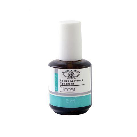 Безкислотный праймер для ногтей, Primer Acid Free Global Fashion, 15 ml