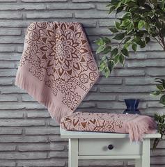 Полотенце махровое Duru (цвет: грязно-розовый)