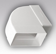 Колено горизонтальное 120х60 мм пластиковое