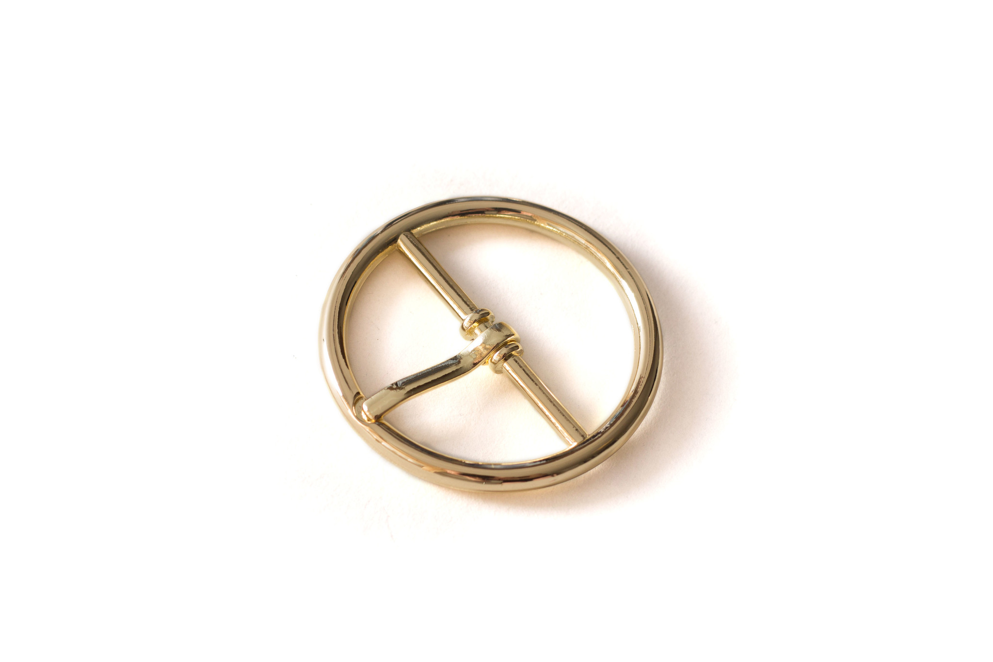 Пряжка круглая 32 мм, золото