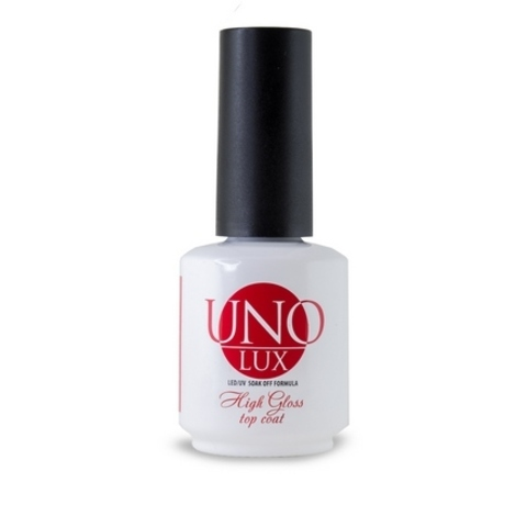 UNO LUX, Топ High Gloss Top Coat, 15 мл