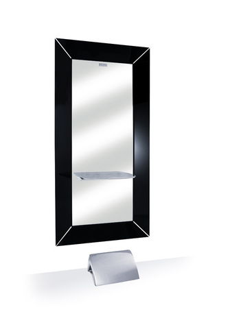 Зеркало парикмахерское CHIC с черной рамой