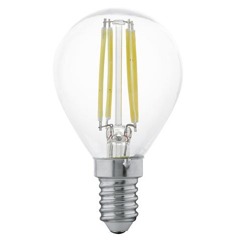Лампа LED филаментная прозрачная Eglo CLEAR LM-LED-E14 4W 350Lm 2700K P45 11499