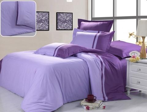 Простыни Сатин Фиолетовый