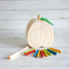 Поймай червячка в Груше (деревянная)