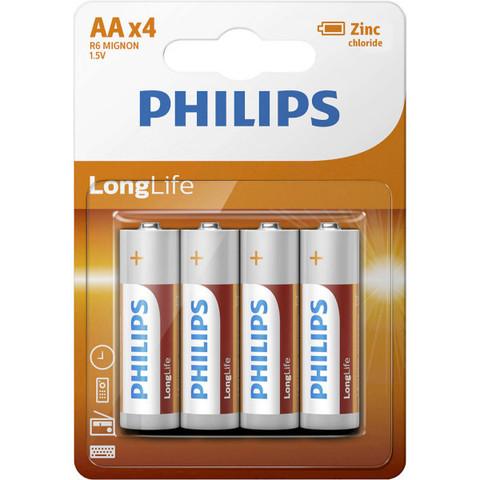 Батарейки Philips LongLife R6, AA (4/48) BL