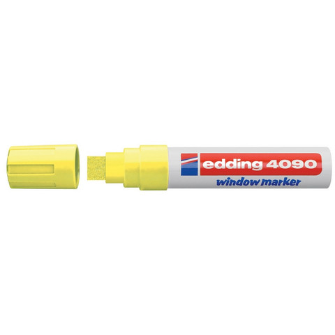 Маркер для окон Edding E-4090/65 (толщина линии 8 мм, неоновый желтый, стираемый)