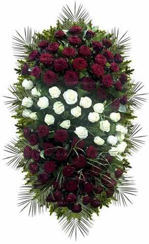 Венок из живых цветов №41 (160 см)