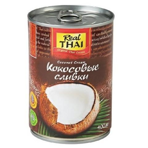 Сливки кокосовые (жирность 20-22%) REAL THAI, 400мл