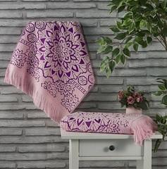 Полотенце махровое Duru (цвет: розовый)