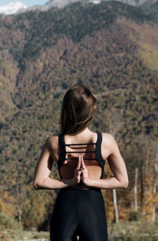 Комбинезон женский для йоги и фитнеса Mac Stripe Black