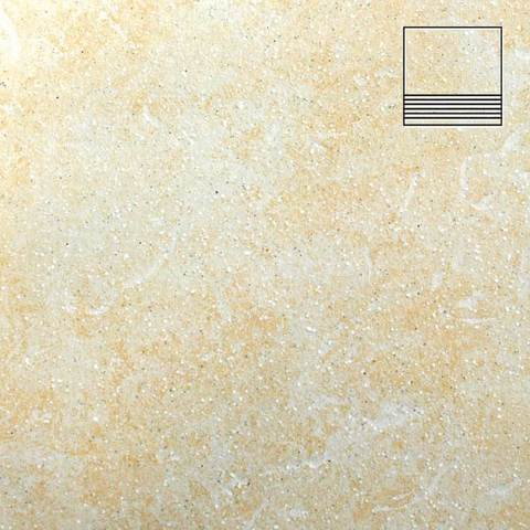 Stroeher - Keraplatte Roccia 833 corda 300x240x10 артикул 8181 - Клинкерная ступень с насечками без угла