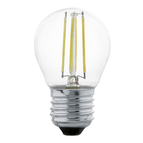 Лампа LED филаментная прозрачная Eglo CLEAR LM-LED-E27 4W 350Lm 2700K G45 11498