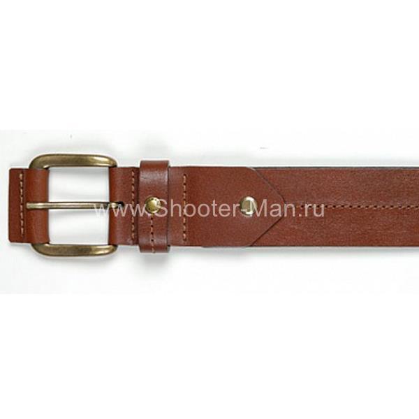 Кожаный ремень брючный Тайга 40 мм Стич Профи фото