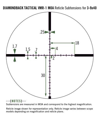 Vortex Diamondback Tactical 3-9x40 VMR-1 (DBK-10023)